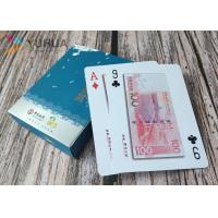 Buy cheap Custom plastic playing cards 100% 0.32mm PVC poker cards with glod stamp product