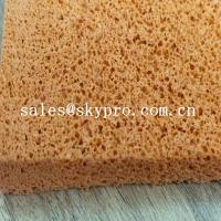 Quality Low hardness silicone foam sponge / open cell silicone rubber sponge foam for sale