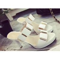 Buy cheap Slip On High Heels Sandals , Ladies Dress Sandals With Metal Ornament Strap Upper product