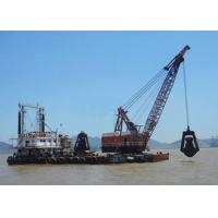 Buy cheap 5 - 80 Ton Offshore Marine Cranes Special Grab Bucket Dredger 1.2r/Min For Ship Loading product