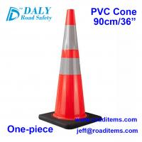China 90cm Orange  PVC Plastic Reflective Traffic Cones for sale for road,highway,street,construction and parking safety cones wholesale