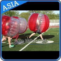 Buy cheap 100% PVC Inflatable Bumper Ball ,  Half Red Bubble Soccer , Loopy Balls , Soccer Bubble Balls product