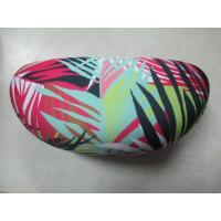 Buy cheap Zebra Cloth Leather Clamshell Eyeglass Case Customised With Golden Foil Printing product