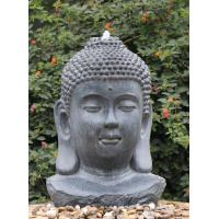 China Decorative Buddha Statue Water Fountain In Fiberglass / Resin Material wholesale