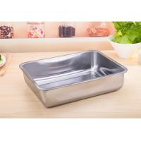 Buy cheap Thickened and deepened Stainless Steel Square Plate Tray  Steamed  Barbecue Plate product
