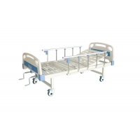 Buy cheap Good Price Semi Fowler Hospital Bed 2 Crank Manual Bed Medical Mobile Bed with Castors product