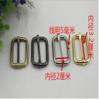 Buy cheap Cheaper manufacturing good quality 32 mm gold iron bag adjustable belt buckles tri glide buckles product