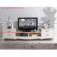 Buy cheap Ivory Classic TV stand wood furniture Audiovisual cabinet in White matt PU painting product