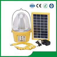 Buy cheap High quality portable solar lantern rechargeable with FM radio & phone charger product