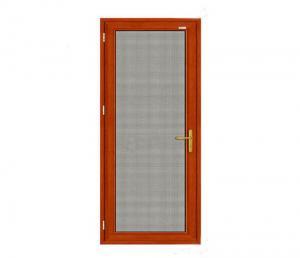 Buy cheap Hollow Glass  Aluminium Glass Swing Door , Aluminium Mosquito Mesh Door product