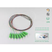 Buy cheap 1x8 mini type PLC splitter with SC APC connector	Optical Fiber Splitter Networking Wavelength 1260-1650nm product