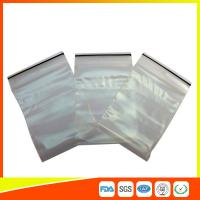 Buy cheap Transparent Strong Packing Ziplock Bags , Airtight Storage Bags Plastic LDPE product