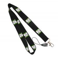 Buy cheap Black Detachable Cell Phone Neck Lanyard With Silk Screen Print Logo product