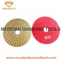 China Spiral Wet flexible Wet Diamond Polishing Pads for Marble and Granite on sale