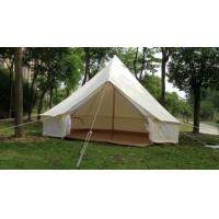 Buy cheap Single Layers White Outdoor Canvas Tent / Cotton Bell Tent For Hiking Equipment product