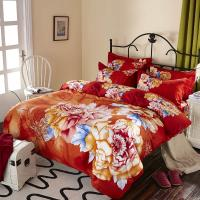 Buy cheap Luxury 9 Pieces Home Bedding Comforter Sets Double Full Size Red Color product
