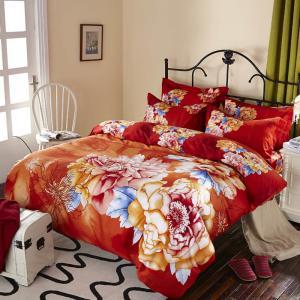 Buy cheap Luxury Design Cotton Bedding Sets , Reactive Printed 100 Percent Cotton Comforter Sets product