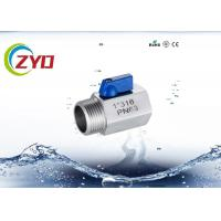 Buy cheap Threaded Stainless Steel Shut Off ValveFor Pneuma / Water High Pressure product