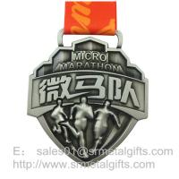 China Die Casting 3D Raised Running Medals, Zinc Alloy Die Casted Sport Medallions wholesale