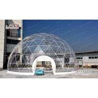 Buy cheap Flame Retardant Steel Structure Geodesic Dome Tent Wind Speed 100km/H product