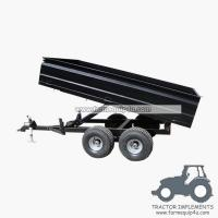 Buy cheap 2TR4W - Off road Hydraulic dump trailer with CE 2Ton product