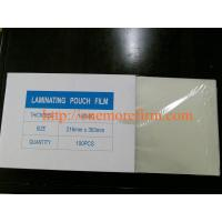 China PET+EVA A1/A3/A4/A5 Transparent Thermal lamination pouch film on sale