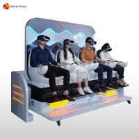 China New Product Indoor Immersive Vr Game 4 Seaters Virtual Reality 9d Cinema Simulator on sale