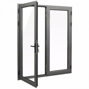 Buy cheap ODM Aluminium Casement Doors Vertical Opening With Corner Code Connection product