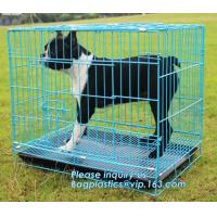 China Commercial Stainless Steel Metal kennel Mesh Pet Dog Cage, Heavy duty Metal Welded Dog cage, Full Size Outdoor Kennel Co on sale