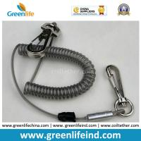 Buy cheap High Pulling Wire Core PU Coated Spiral Coiled Tool Lanyard product