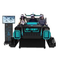 Quality 6 Seats Black 9D VR Cinema Simulator Arcade Games Machine With Special Effects for sale