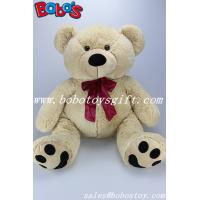 Buy cheap 34cm~70cm China supplier of different size plush teddy bear toys with wine red ribbon product