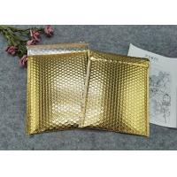 China Protective Gold Colored Bubble Wrap Mailing Bags / Poly Bubble Mailers on sale