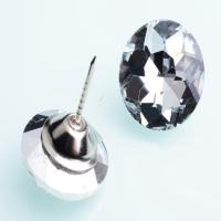 Buy cheap Multi Style Various Size Crystal Rhinestone Buttons Transparent 25mm Diameter product