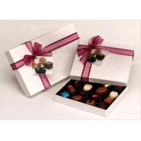Buy cheap Neat Choclate Custom Packaging Boxes With Ribbon , Packaging Cardboard Boxes product