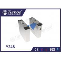 Buy cheap Fingerprint Flap Barrier Gate / Entrance Barrier Systems Auto Reset Function product