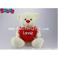 Buy cheap China Stuffed teddy bear with red heart pillow in 3 different size product