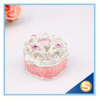 Buy cheap Small Metal Metal Treasure Chest Jewelry Ring Box Wedding Ring Rolls Jewelry Box Retail product