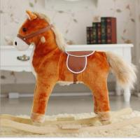 China New Children Rocking Horse With Sound And Moving Mouth and Tail And Led Light Big Size on sale