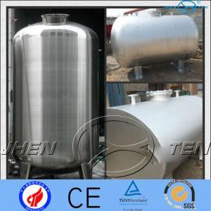 Buy cheap Asme Horizontal Stainless Steel Pressure Vessel Tank  Mirror Matt product