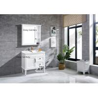 Space Saving PVC Bathroom Vanity Brass Or Stainless Steel Handles