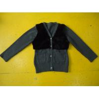 Buy cheap Chic Girls Cardigan Sweaters , Faux Fur Blocked Chest Girls Button Down Sweaters product