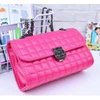 Buy cheap Pink Genuine Quilted Leather Handbags Alloy Chain Strap Western Style For Ladies product