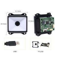 Buy cheap USB TTL232 Fixed Mount Barcode Scanner 1D QR Payment For Kiosk product