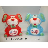 Buy cheap Customized Logo Teddy Bear Coin Bank , Unique Cute Piggy Banks Heavy Dolomite Material product