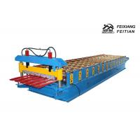 Buy cheap Cold Rolled Steel Color Steel Roll Forming Machine PLC Control For Roofing product