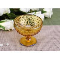 Buy cheap Yellow Stemware popular wedding glass candle holders Bowl Shape product