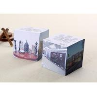 China 3'' Recycled Tear Off Pages Personalized Memo Pad Notepad Cube For Office / Home / School on sale