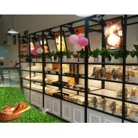 Buy cheap Metal Wooden Food Store Shelving LED Light Bread Display Rack With Three Layer product