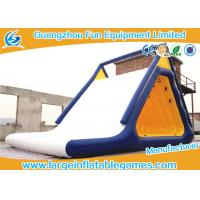 Aqua Fun Inflatable Commercial Water Slides With Climbing , 0.6mm / 0.9mm Thickness